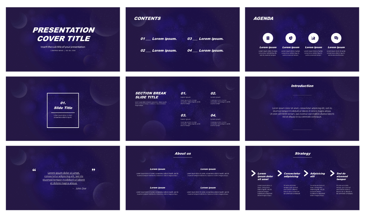 Nebula Galaxy Free Google Slides Themes PowerPoint Templates
