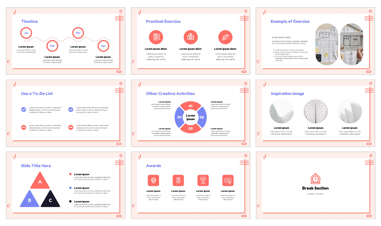 Office Workspace Google Slides PowerPoint Templates Free Download