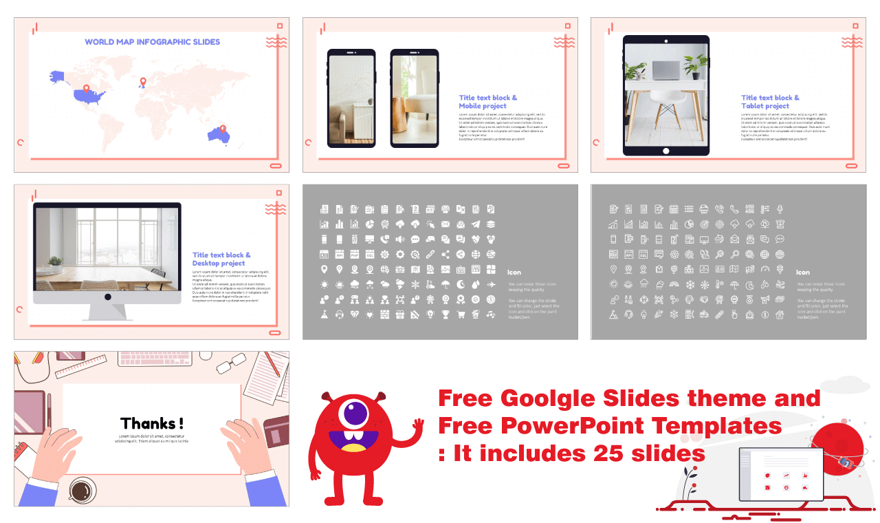 Office Workspace Presentation Templates for Google Slides Themes PowerPoint Templates