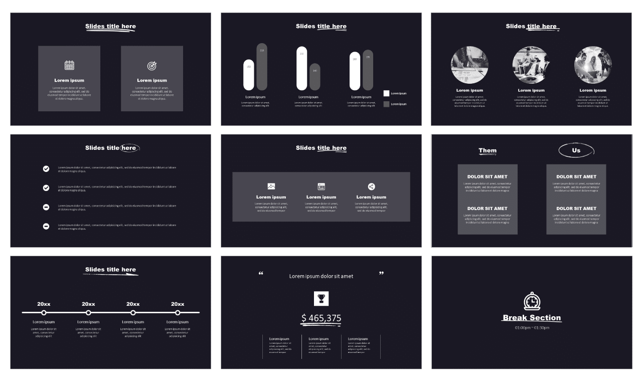 Simple Pitch Deck PowerPoint Templates Free Download
