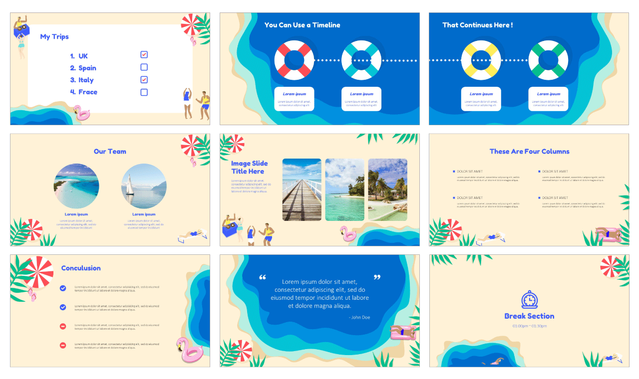 Summer Vibes Free Google Slides Themes PowerPoint Templates
