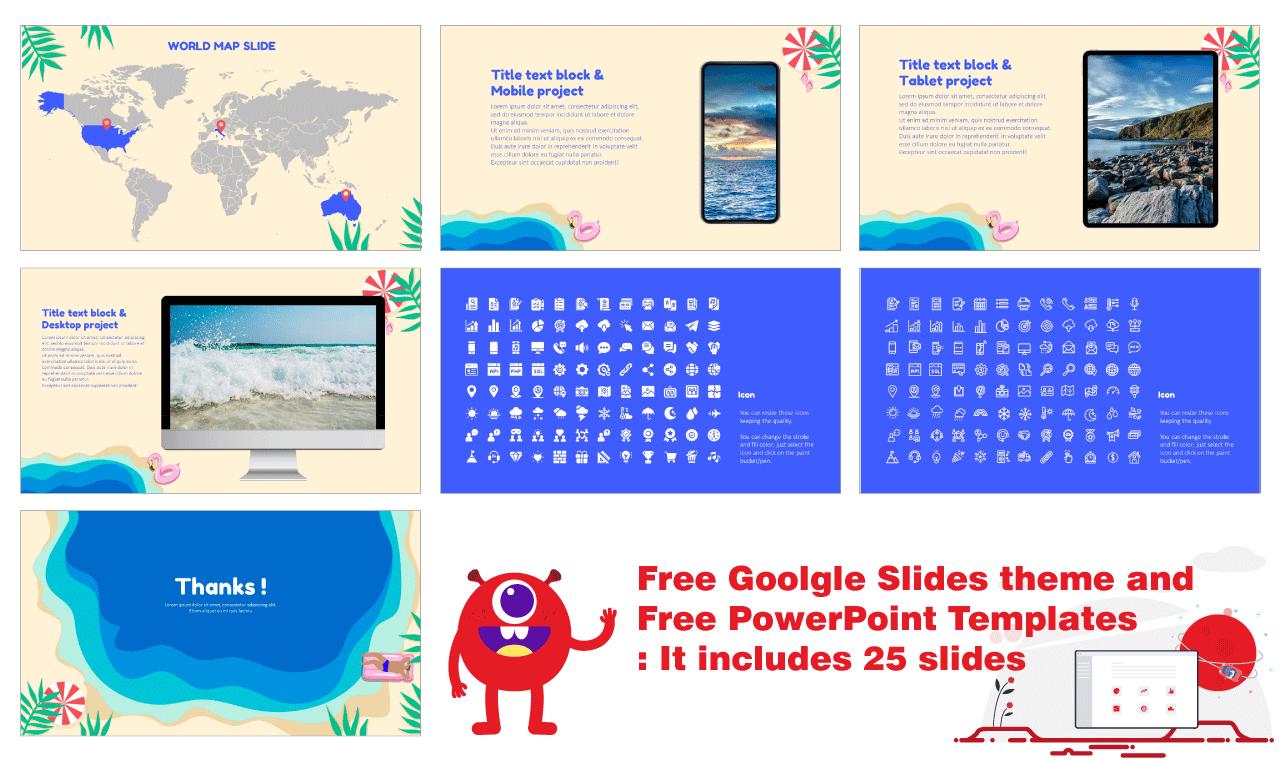 Summer Vibes Presentation Device Slides