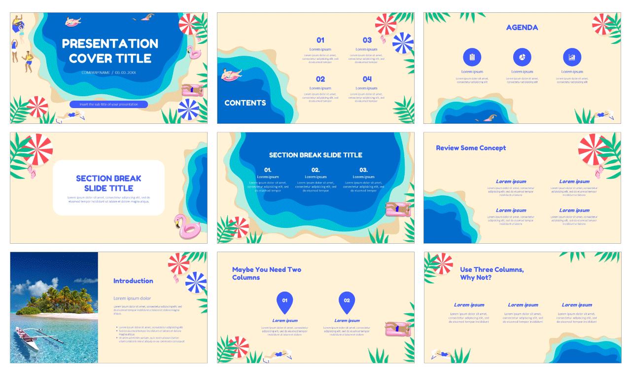 Summer Vibes Presentation Free Google Slides Themes PowerPoint Templates