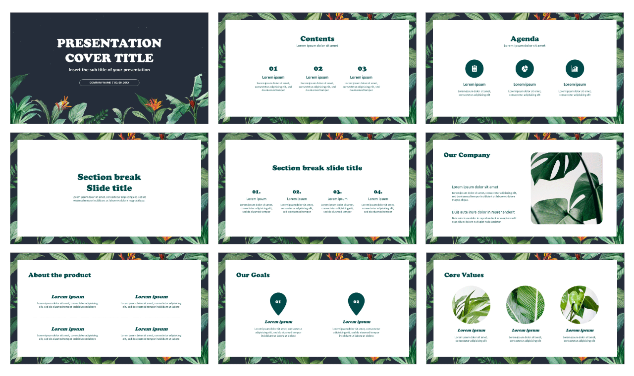 Tropical At Night Free PowerPoint Templates