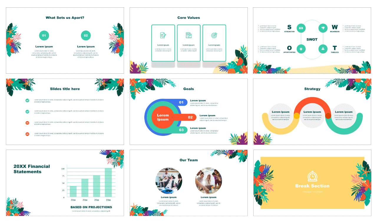 Tropical Leaf Free PowerPoint Templates