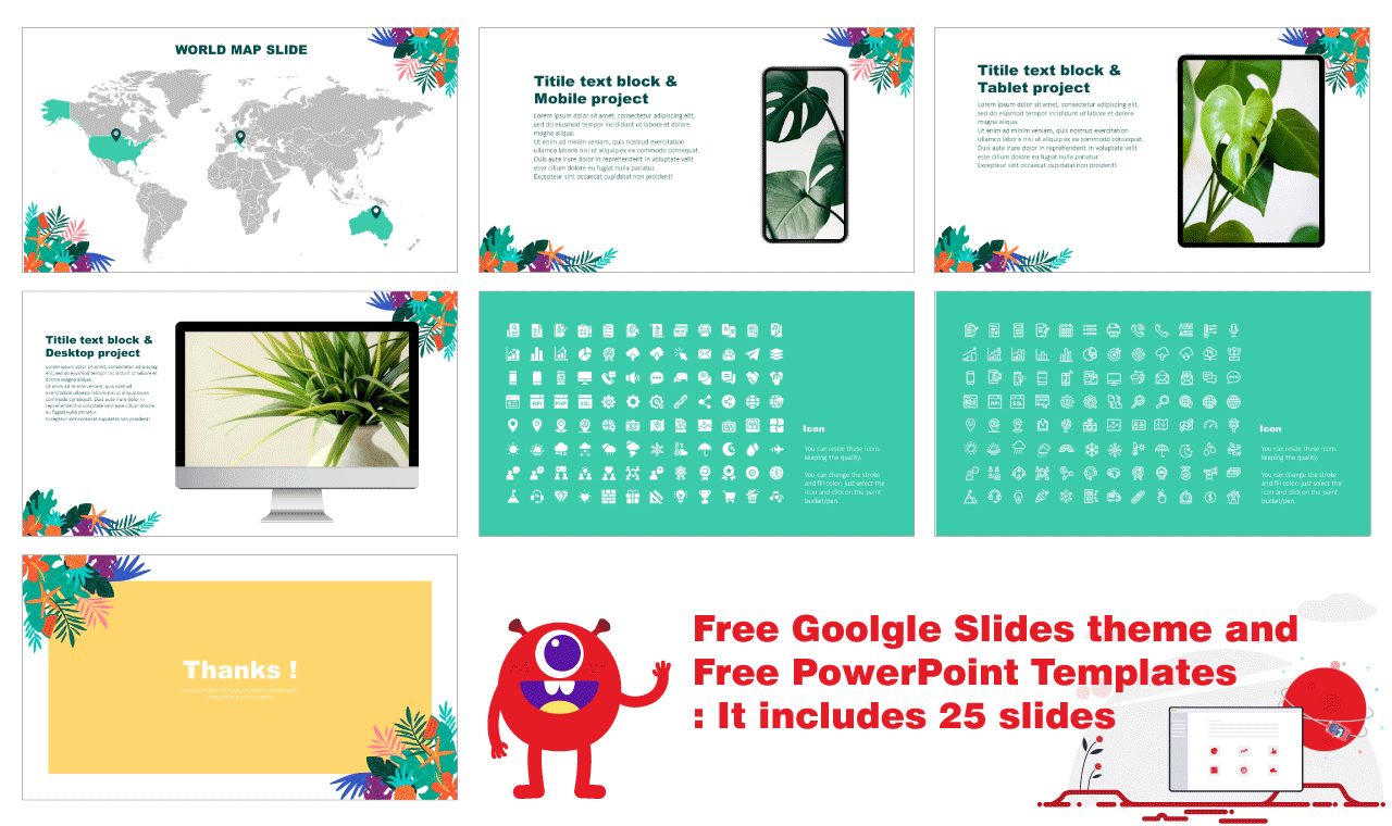 Tropical Leaf PPT Templates Free Download