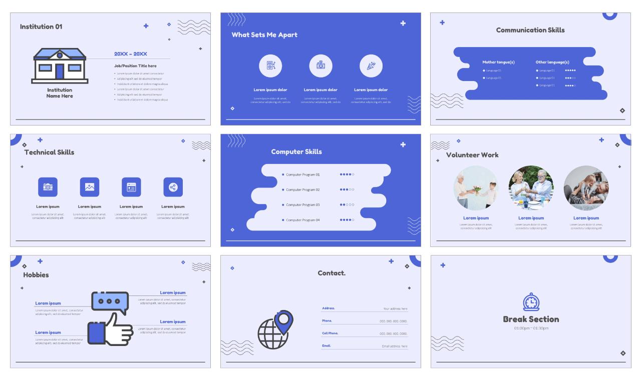 Visual designer resume Free Google Slides Themes