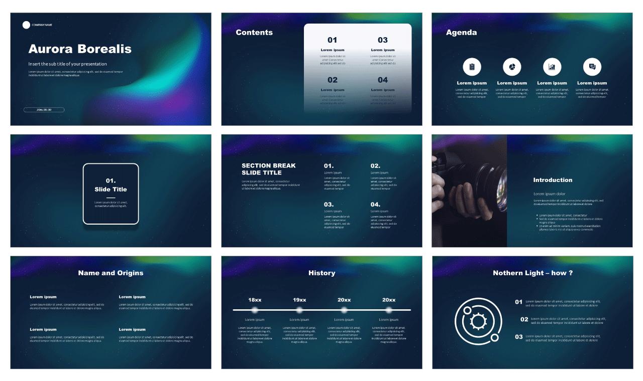 Aurora Borealis Free Google Slides Themes PowerPoint Templates