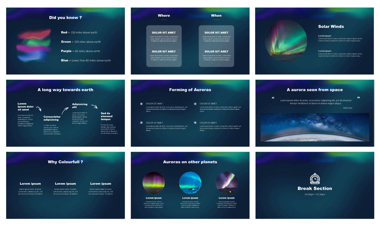 Aurora Borealis Google Slides PowerPoint Templates free download