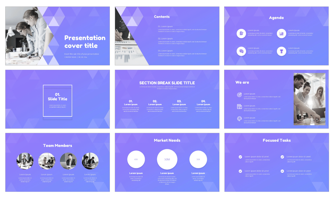 Business abstract triangle Free Google Slides Design Themes