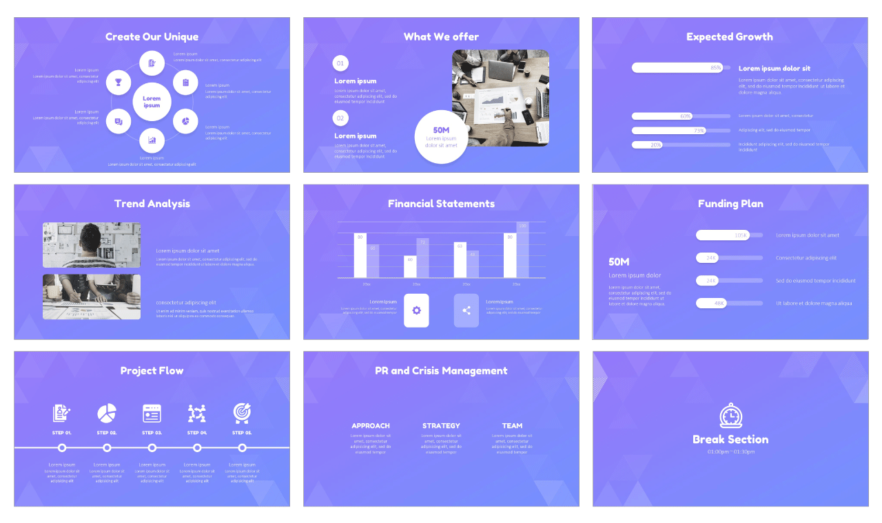 Business abstract triangle Free PowerPoint Design Templates