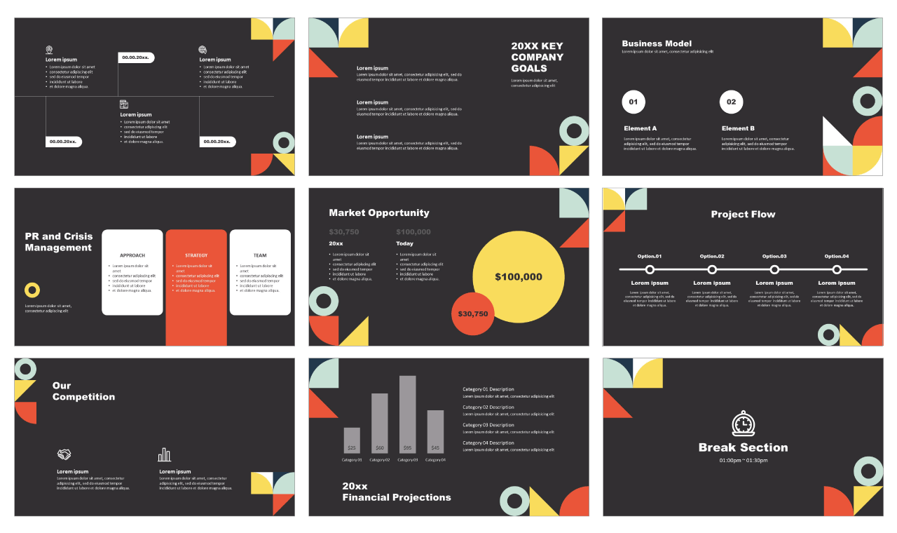 Corporate Flat Design Free PowerPoint design templates