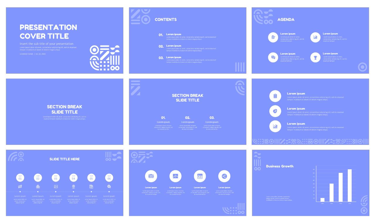 Creative Symbol Pattern Free Google Slides themes