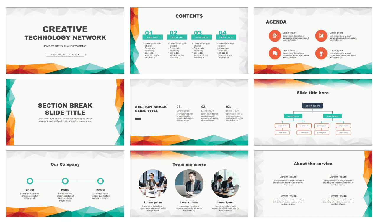 Creative technology network Free Google Slides Design Themes