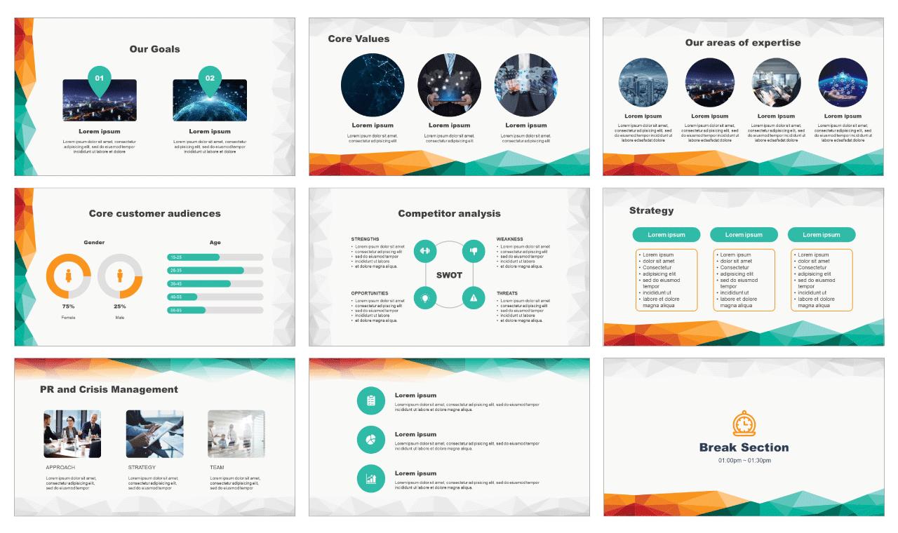 Creative technology network Free PowerPoint Templates Design