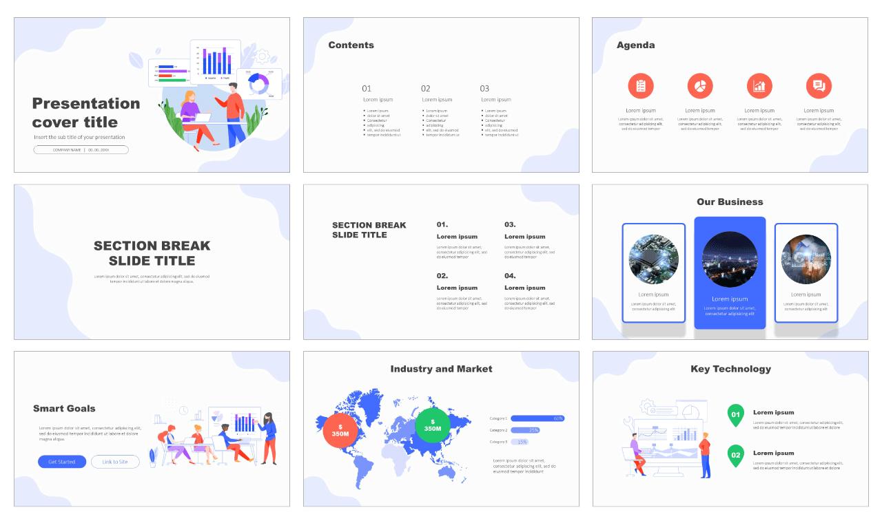 Data analysis process Free Google Slides Design Themes