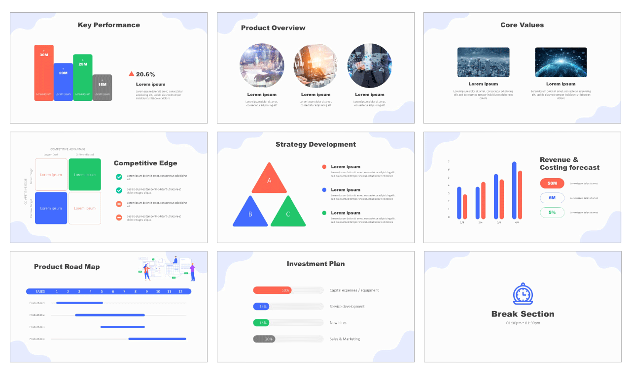 Data analysis process Free PowerPoint Templates