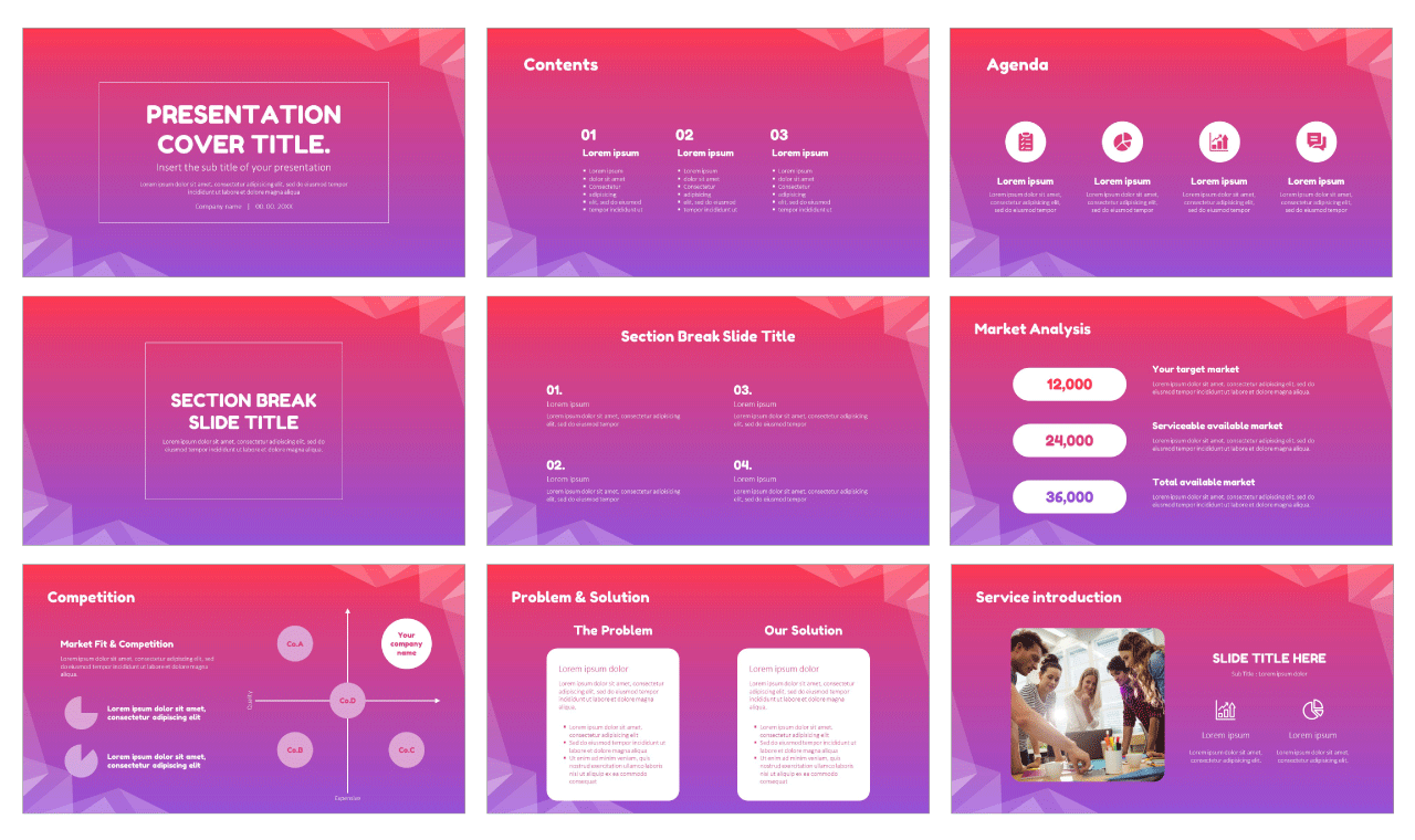 Financial Analysis Service Free Google Slides design themes