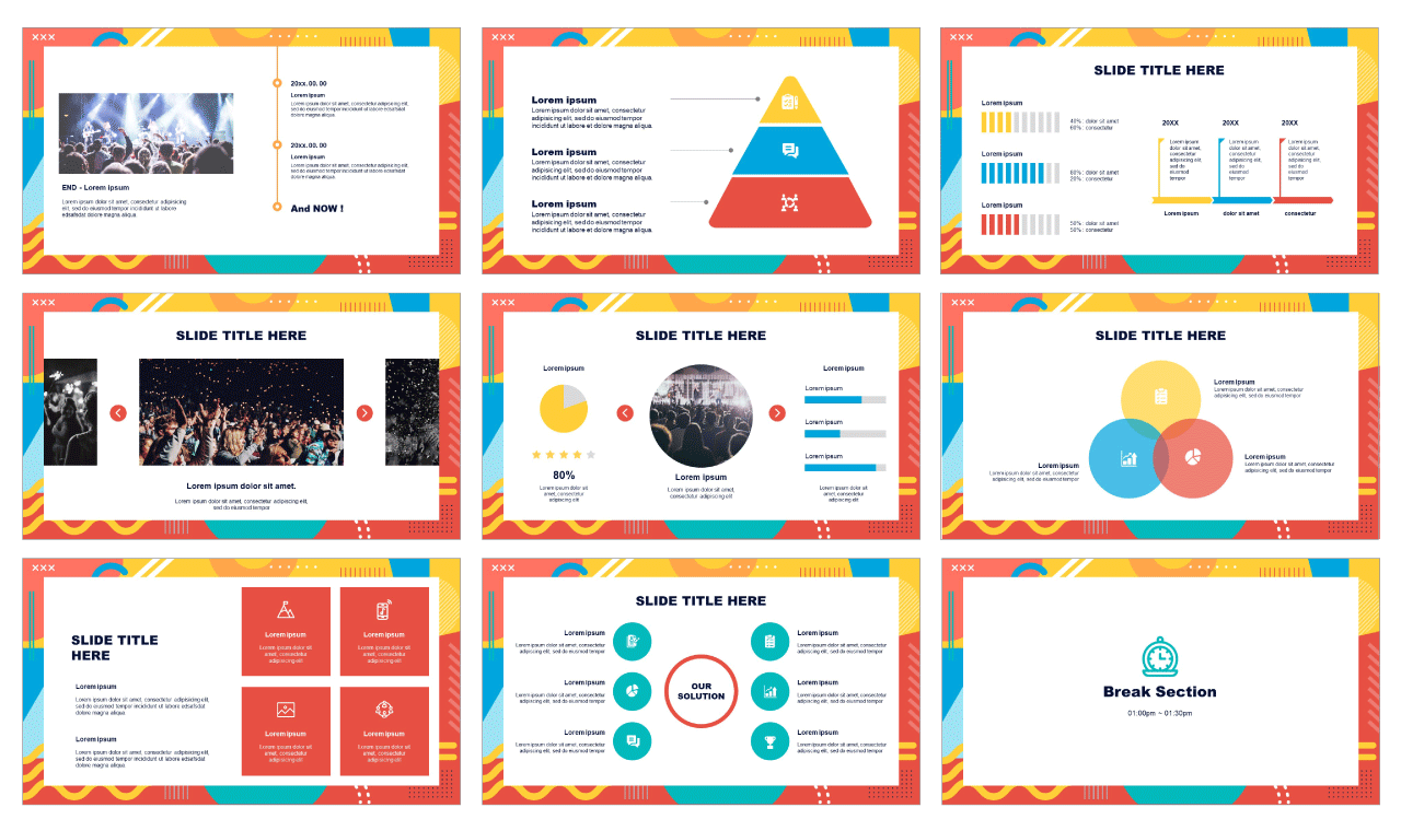 Geometric pattern frame Google Slides PowerPoint Templates Free download
