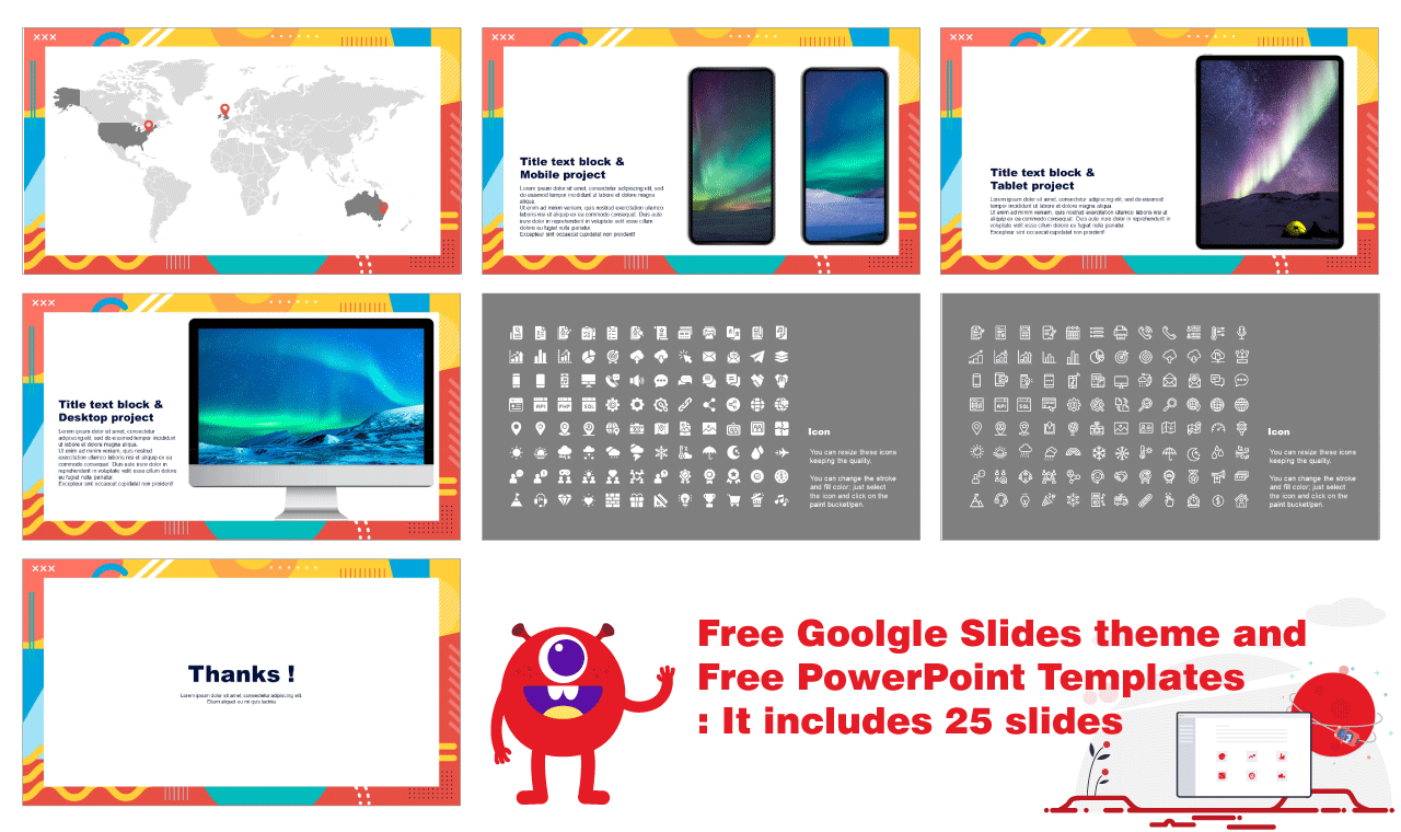 Geometric pattern frame Presentation design Google Slides PowerPoint Templates