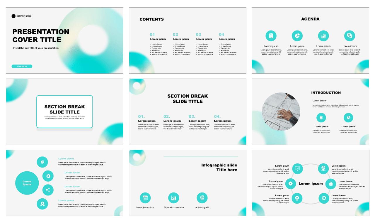 Holographic Gradient Free Google Slides Theme PowerPoint Templates