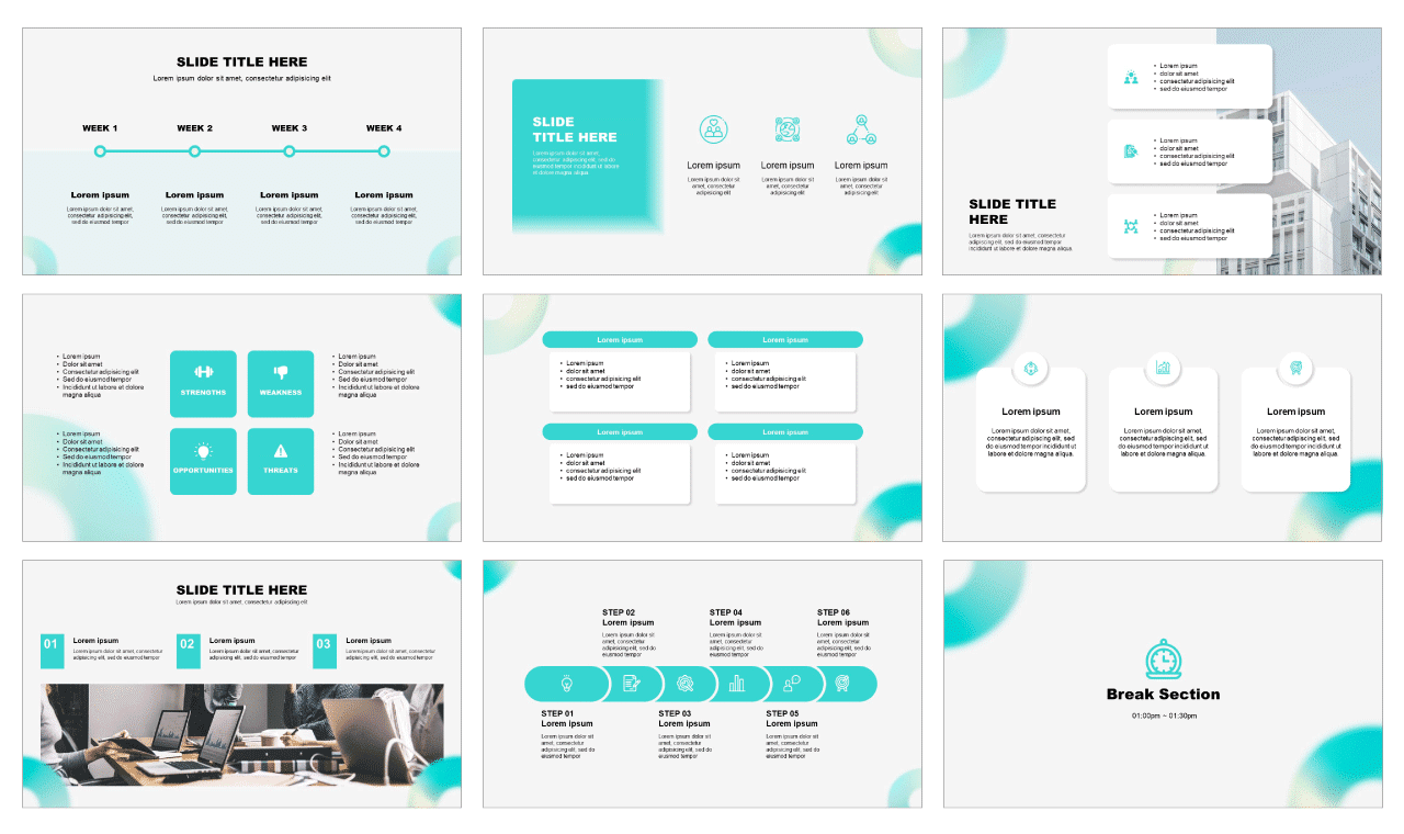 Holographic Gradient PowerPoint Templates Google Slides Themes Free download