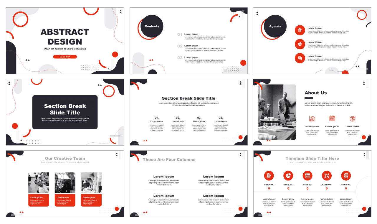 Modern Abstract Shapes Free PowerPoint Templates Google Slides Themes