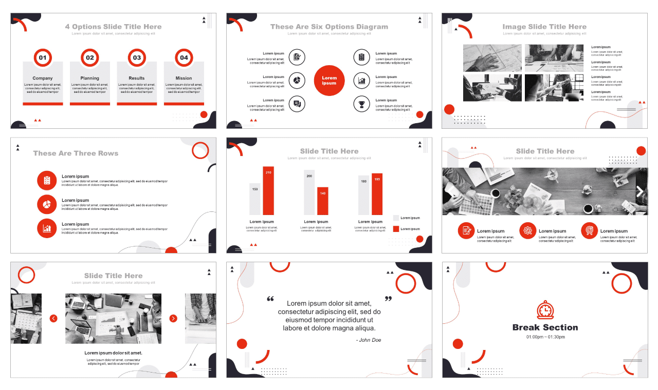 Modern Abstract Shapes Google Slides Theme PowerPoint Templates Free download