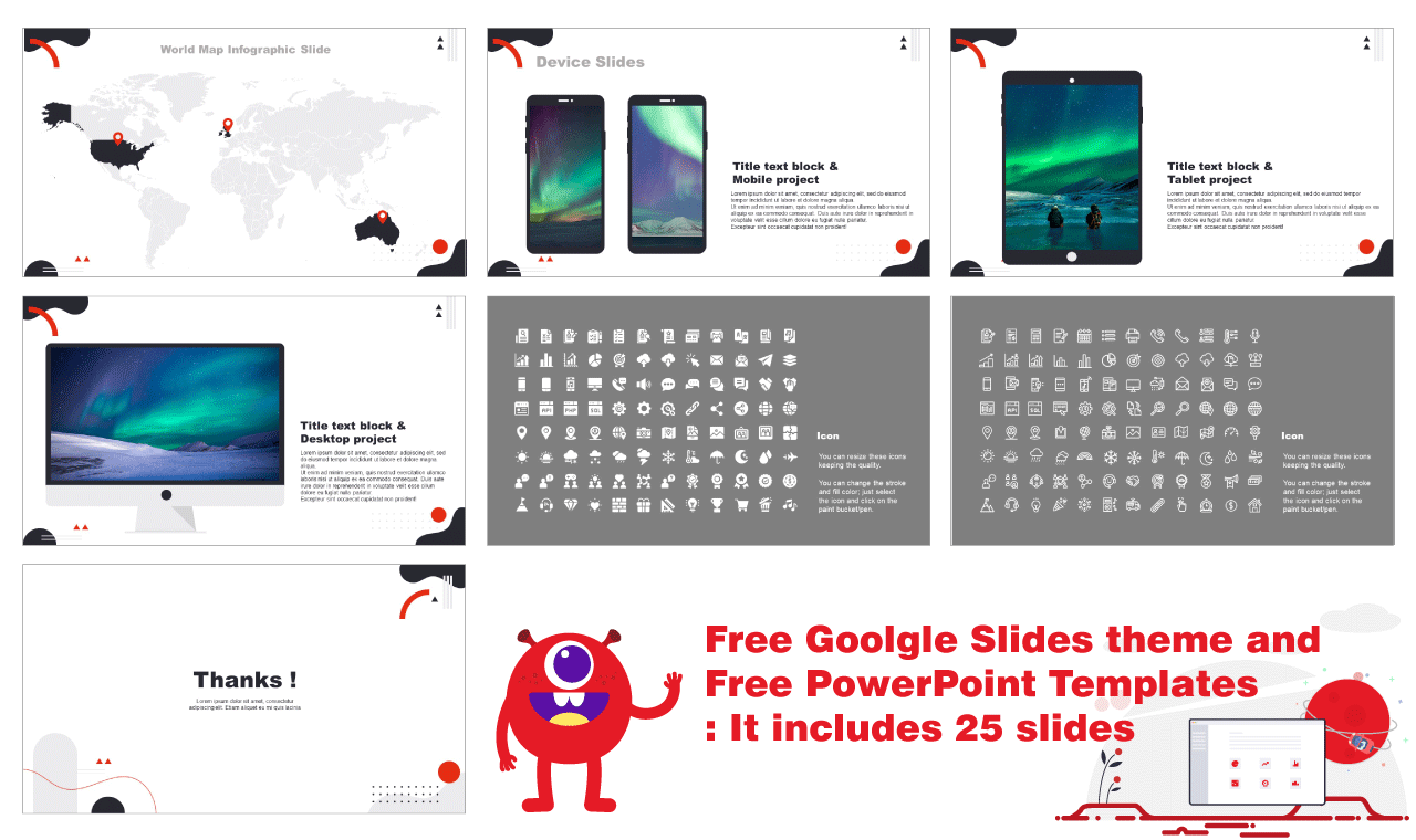 Modern Abstract Shapes Presention PowerPoint Templates Google Slides themes