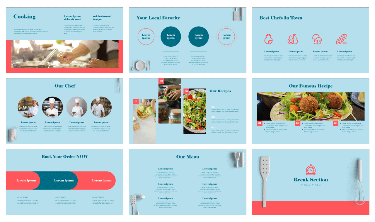 Recipes Everyone Will Love Free PowerPoint Templates