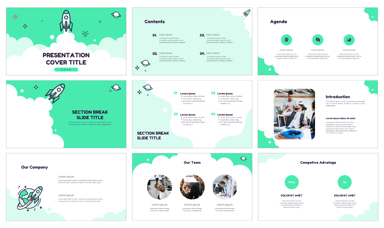 Startup Rocket Launch Free PowerPoint Templates Google Slides Themes