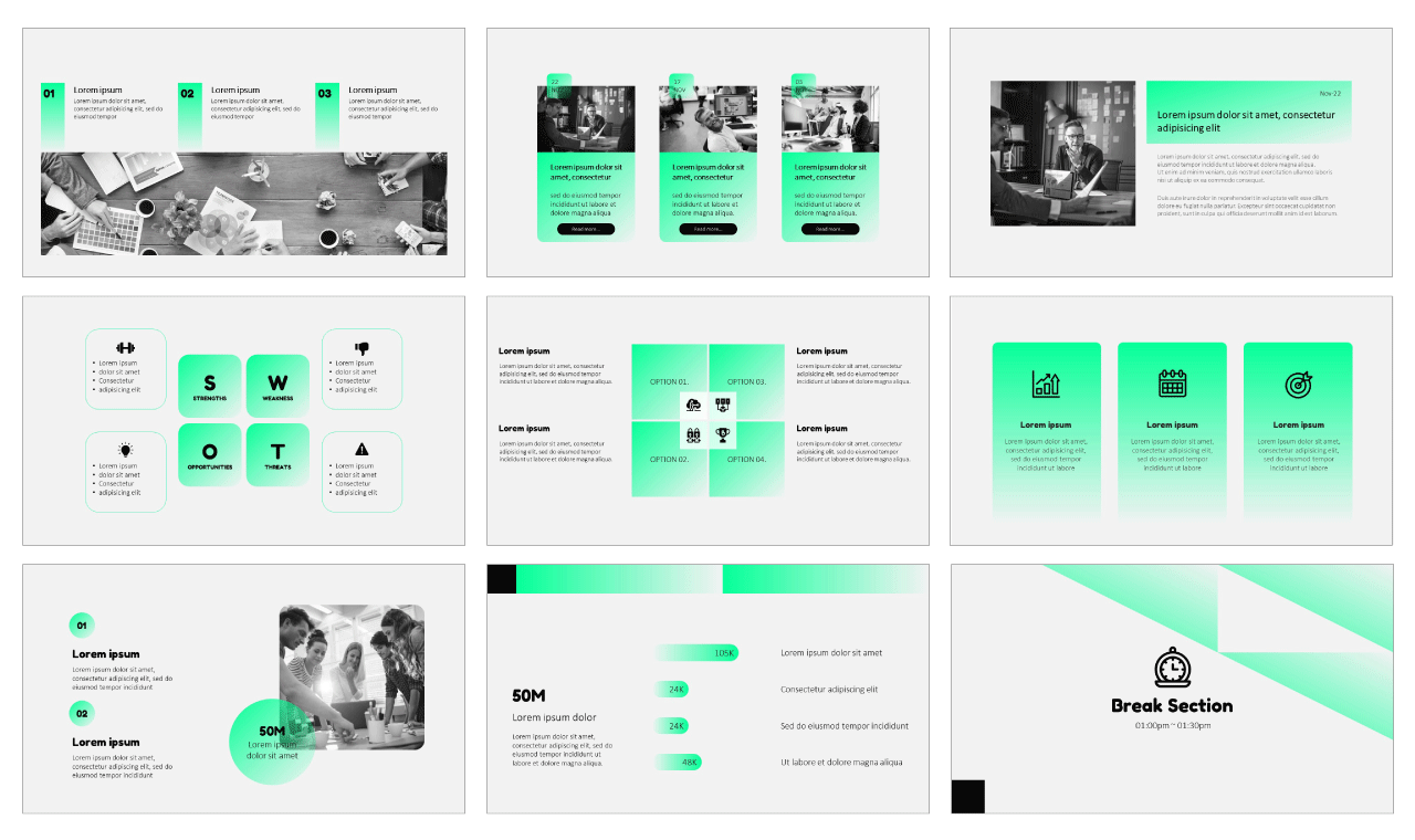 Business Proposal Design Free PowerPoint Templates
