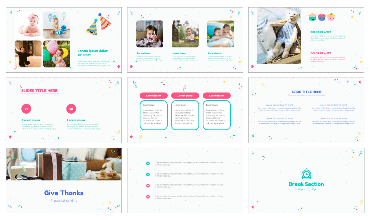 Childrens birthday Free PowerPoint Template