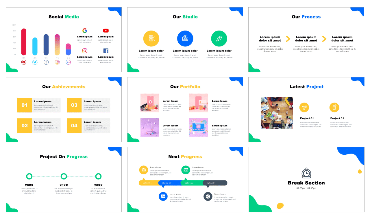 Creative agency Free PowerPoint Template