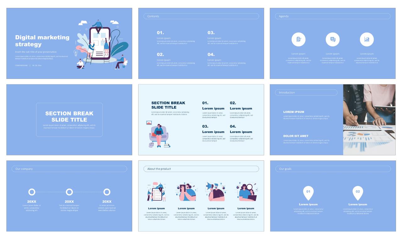 Digital marketing strategy Free Google Slides Theme
