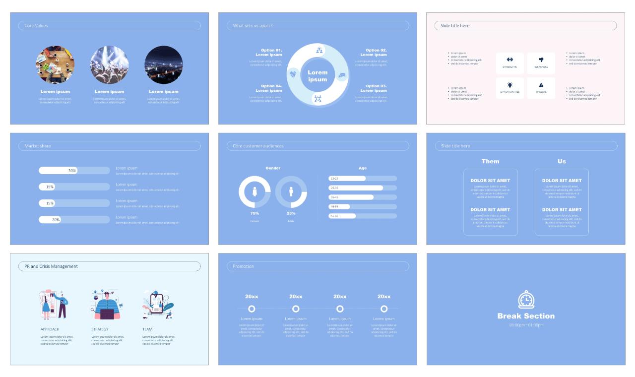 Digital marketing strategy Free PowerPoint Template