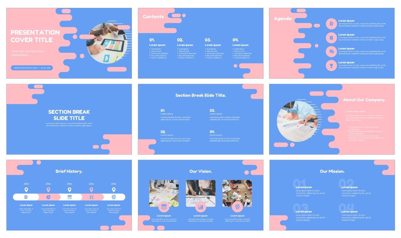 Flat style background Free Google Slides theme