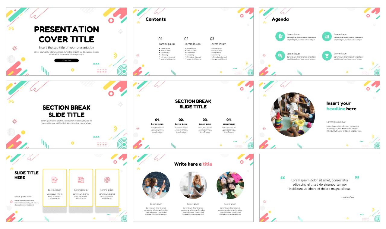 Fun creativity education Free Google Slides Theme