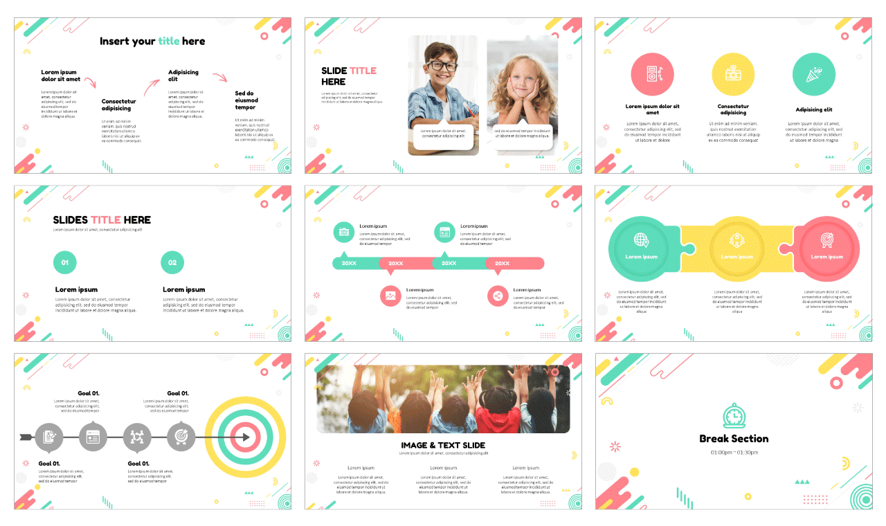 Fun creativity education Free PowerPoint Template