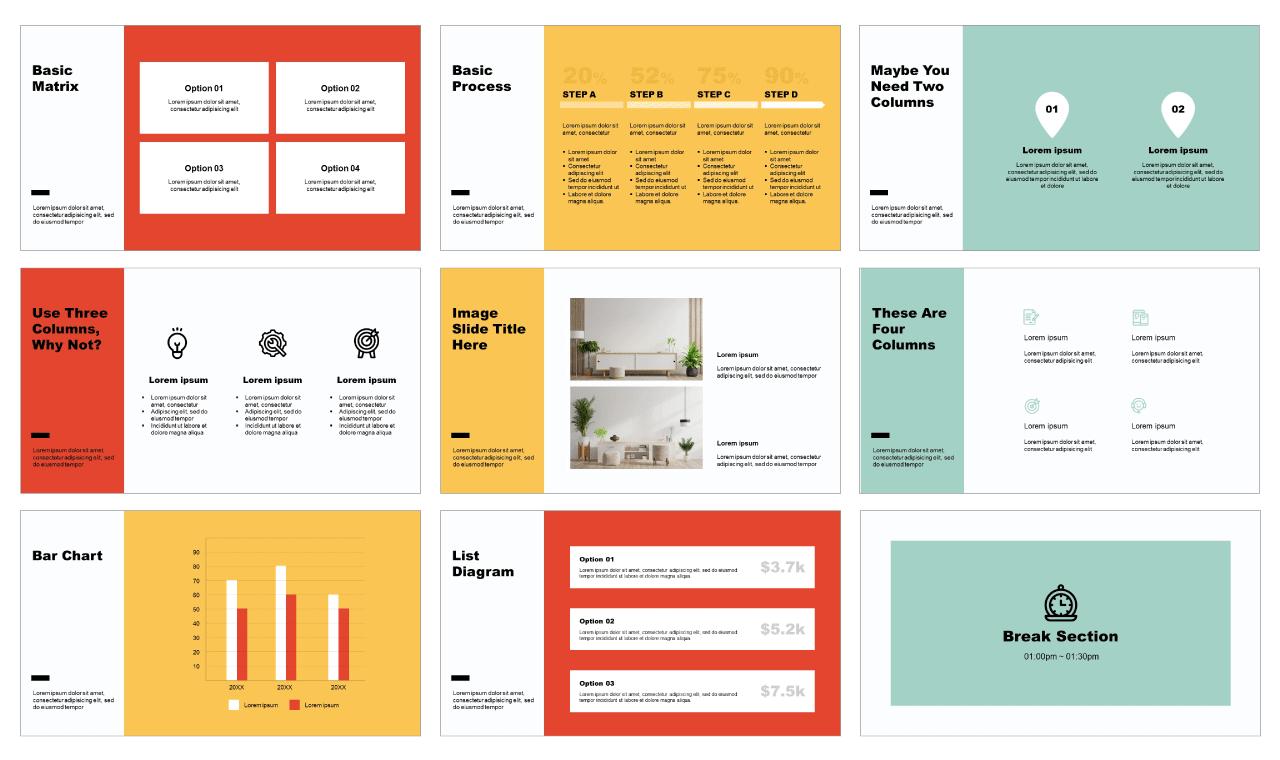 Furniture Urban Minimalism Free PowerPoint Templates