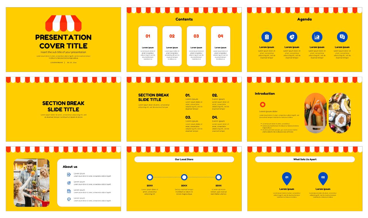Local Store Marketing Free Google Slides Theme PowerPoint Templates