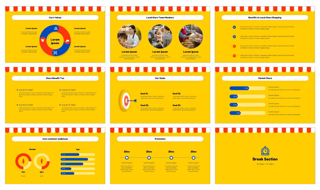 Local Store Marketing Presentation Design Google Slides PowerPoint Templates