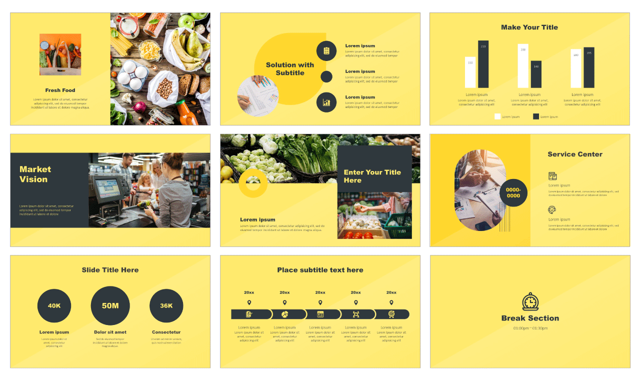 Market Report Free PowerPoint Template
