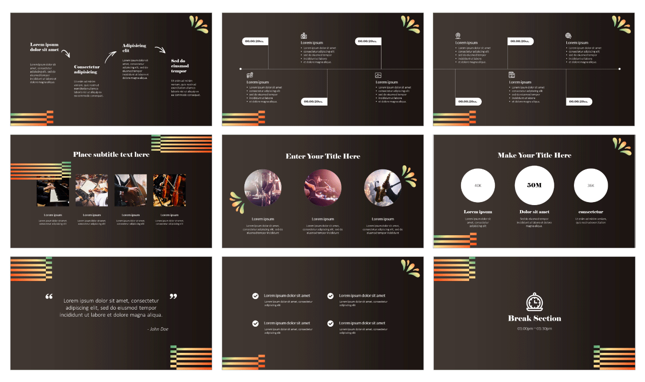 Music Class Free PowerPoint templates