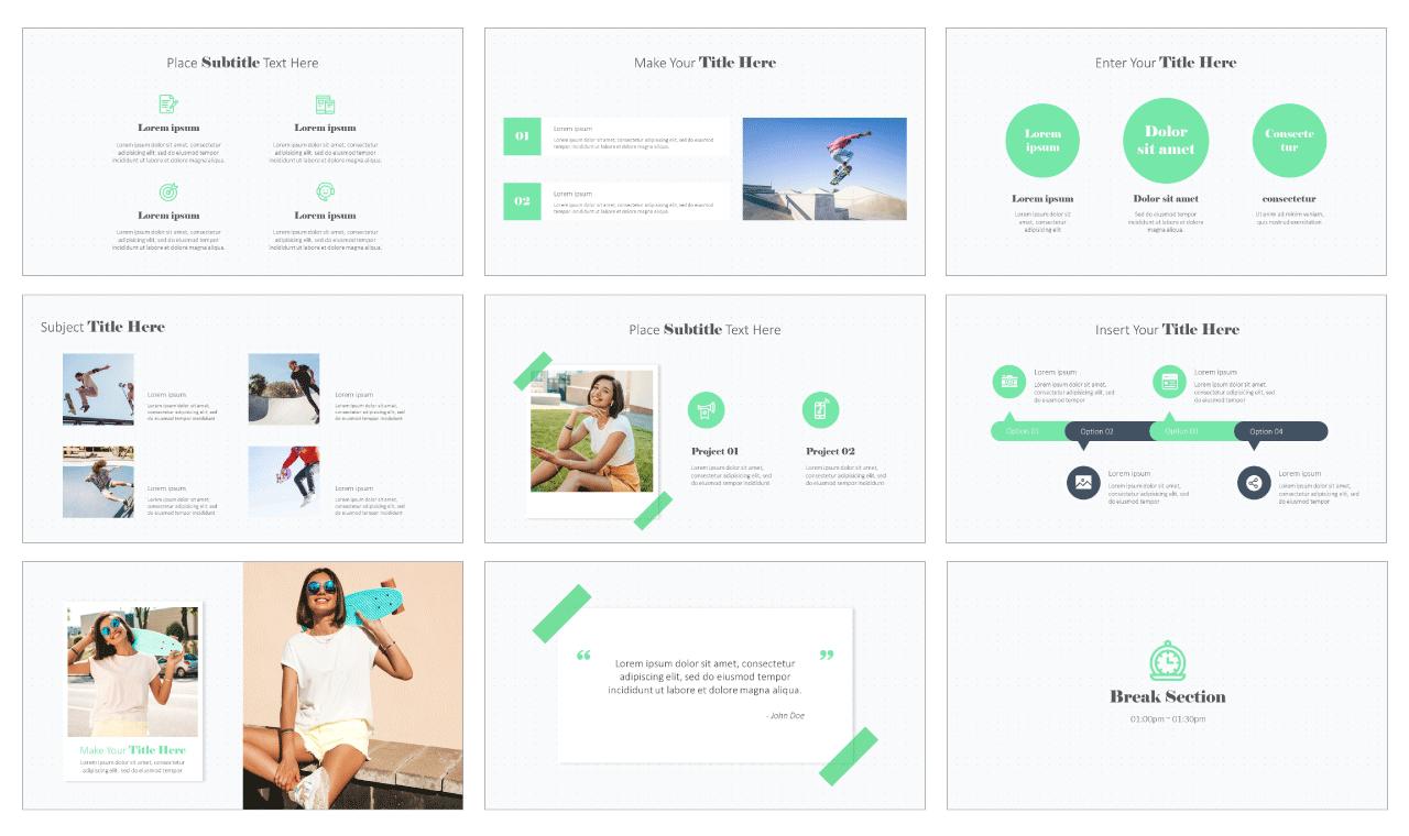 Polaroid Photos Design Free PowerPoint Template