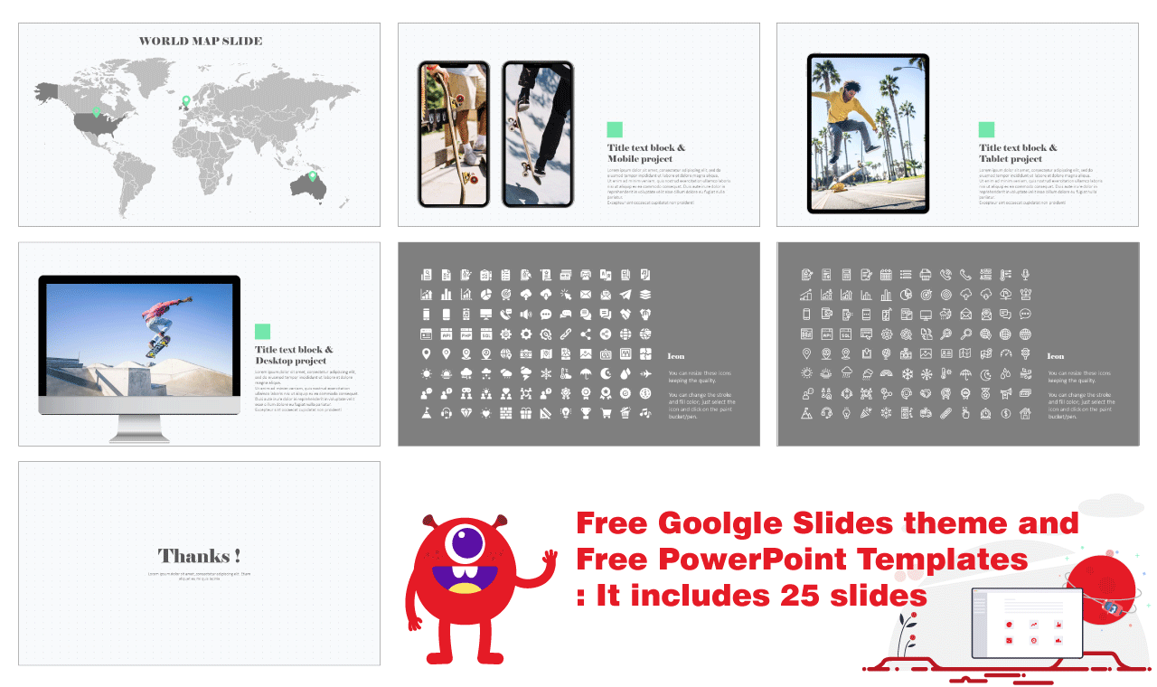 Polaroid Photos Design Presentation Background Design Google Slides PowerPoint templates