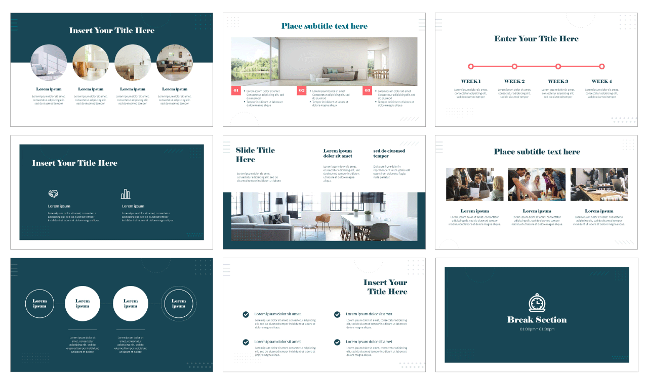 Real Estate Proposal PowerPoint design template