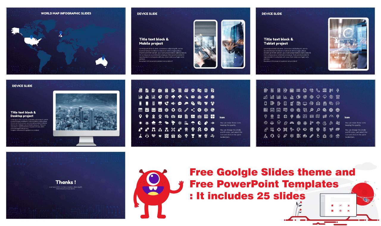 Technology Network Presentation Design Google Slides PowerPoint Templates