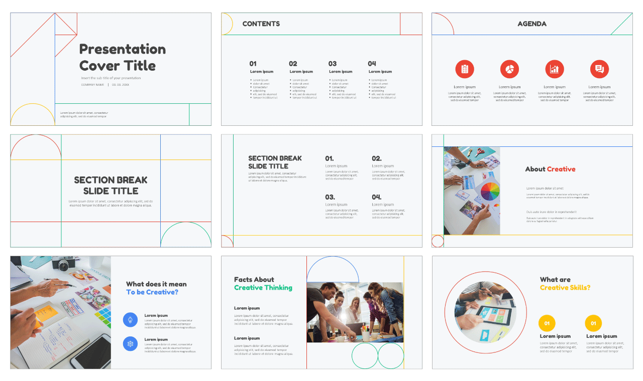 Visual Learning Center Free Google slides themes