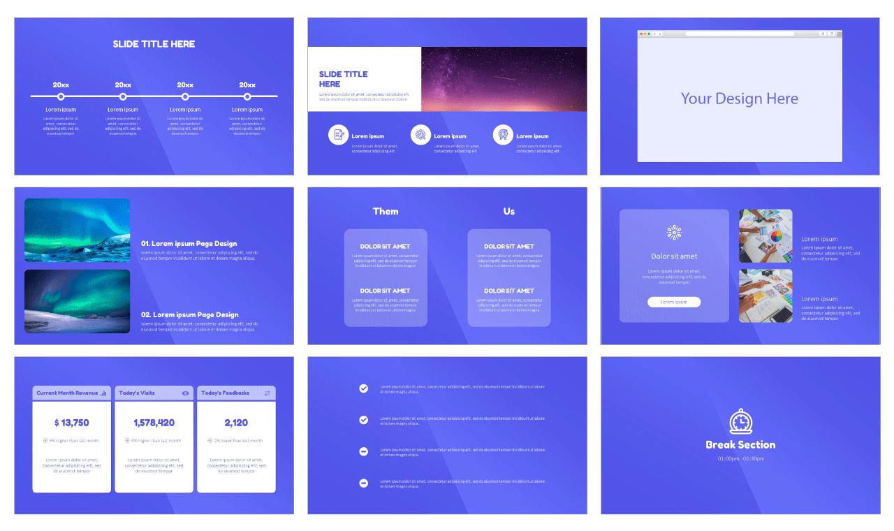 Website Design Service Free PowerPoint templates
